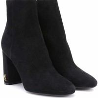 Loulou 95 suede ankle boots