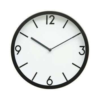 "10"" Bold Lines and Numbers Wall Clock"