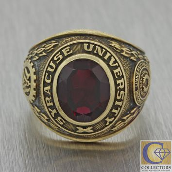 Mens Womens Vintage Estate 10k Gold BA Class Of 1957 Syracuse University Ring