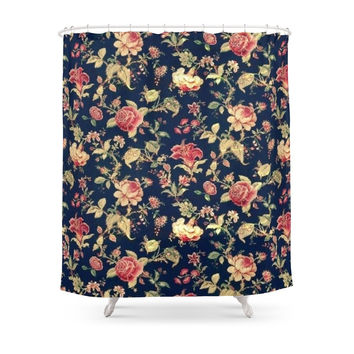 Society6 Vintage Floral Shower Curtains