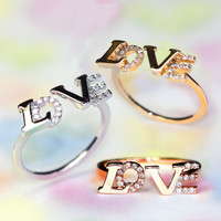 adjustable Love initials ring (3 colors)/Because twist shape change/for love and friendship