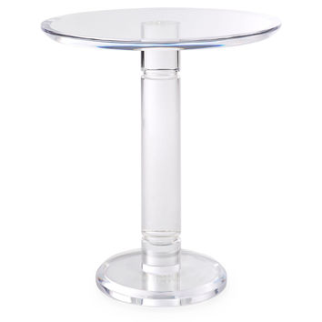 Spindle Side Table, Acrylic / Lucite, Standard Side Tables
