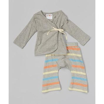 Color Stripes Baby Kimono Set