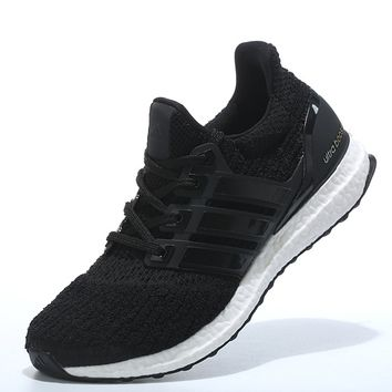 "Women ""Adidas"" Boost Fashion Trending Black Leisure Running Sports Shoes"