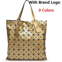 New Fashion 2017 Women's  BAO BAO Brand Logo Bags Hologram Laser Geometric Handbags Multicolor baobao bag