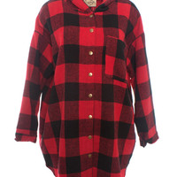 DejaVu Hooded Flannel Plaid Jacket