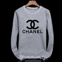 Chanel Fashion CC Logo Long Sleeve Top Sweater Pullover Sweatshirt