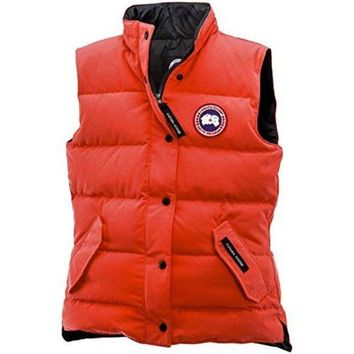 ONETOW Canada Goose Freestyle Down Vest - Women's Monarch Orange, XS  canada goose women