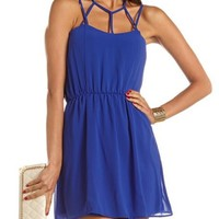 Caged Tie-Back A-Line Dress: Charlotte Russe