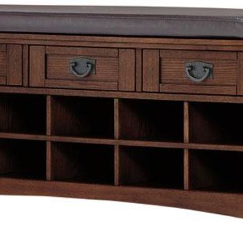 Artisan Bench with Shoe Storage - Benches - Entryway - Furniture | HomeDecorators.com