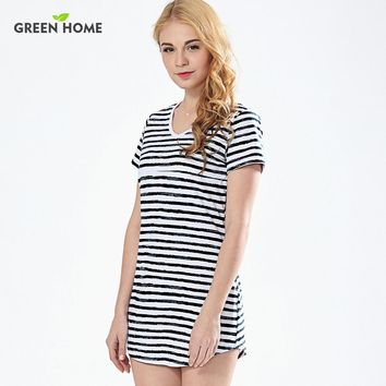 Striped T Shirt Mini Nursing Dress