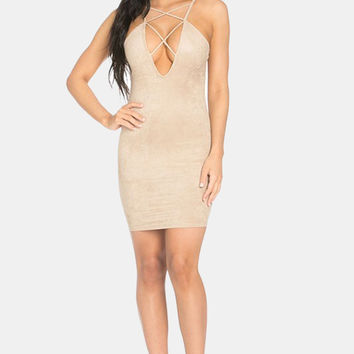 Suede Mini Dress