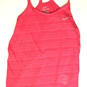 DCCK8BW Nike Womens Dri-Fit Breeze Strappy Running Tank Pink Large 811449-616