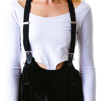 UNIF Dropout Suspender Skirt