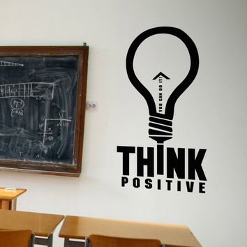 Vinyl Wall Decal Sticker Think Positive #5296