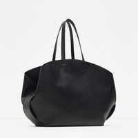 Contrasting shopper tote bag