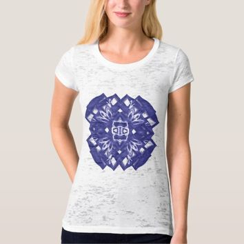 Women's Canvas Fitted Burnout sacred geometry T-Shirt