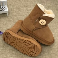 2017 New Brand Children Shoes Girls Boots Winter Warm Ankle Toddler Boys Boots Shoes Kids Snow Boots Children's Plush Warm Shoe