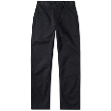 ORIGINAL FIT 4 POCKET FATIGUE PANTS - BLACK TWILL