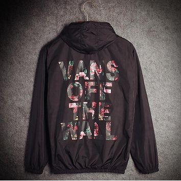 Vans Fashion Hooded Zipper Cardigan Sweatshirt Jacket Coat Windbreaker Sportswear-1