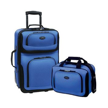US Traveler Unisex  Rio 2-Piece Expandable Carry On Set