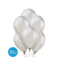 Silver Pearl Balloons 20ct