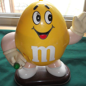 M&M dispenser Yellow by Dee9220 on Etsy