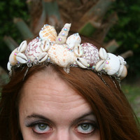 Orabelle Crown, mermaid crown, seashell crown, mermaid tiara, mermaid headpieces, music festival headpiece, mermaid headdress