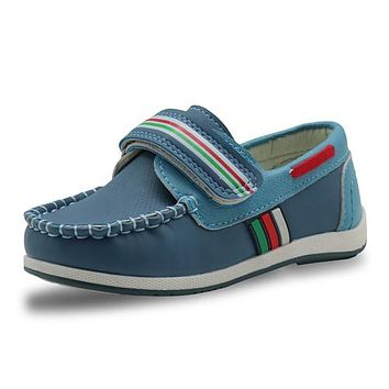 New Kids PU Leather Shoes Boys Loafers Soft Sneakers Children Fashion Moccasins Boys Casual Boat Shoes Arch Support