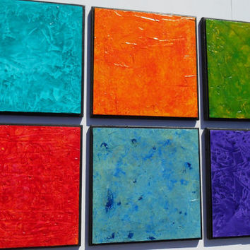Wood Panel Art - Multi Panel Art - Modern Art - Acrylic Paintings - Original Paintings - Modern Abstract Paintings - Wood Wall Sculpture