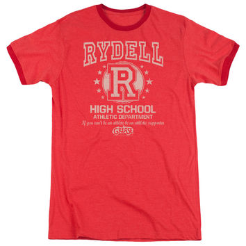 Grease Rydell High Red Ringer T-Shirt
