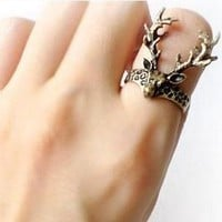 Vintage Antler Animal Ring at online cheap vintage jewelry store Gofavor