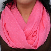 Infinity Scarf. Pink Circle Scarf. Eternity Scarf. Women Accessory