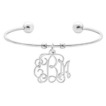 Custom 26 Letter Monogram Personalized Name Charm Bracelets Bangles Gift for Best Friends For Women New Year Christmas Gift