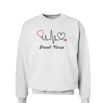 Stethoscope Heartbeat Text Sweatshirt