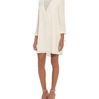 A.L.C. Crochet Trim Neckline Dress: White at INTERMIX | Shop Now | Shop IntermixOnline.com