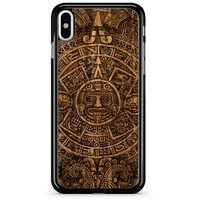 Aztec Mayan Calendar Gold iPhone X Case