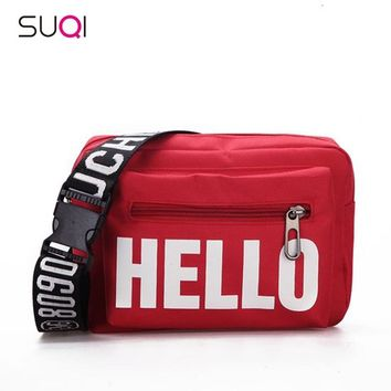 2018 Hip-hop Women Bag pouch Cross body bag retro street Handbag Female package popular letter women messenger bag