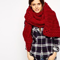ASOS Oversized Open Lattice Cable Scarf