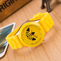 Trendy Yellow Silicone Watch