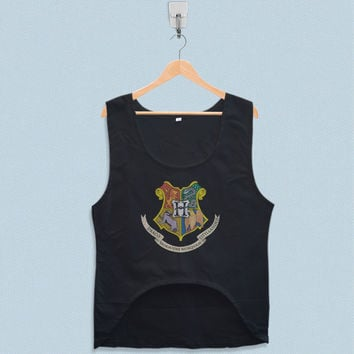Women's Crop Tank - Harry Potter Hogwarts School of Witchcraft and Wizarddry Logo