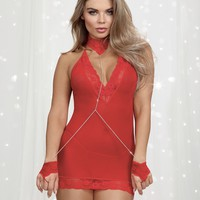 Tied Up Halter Chemise