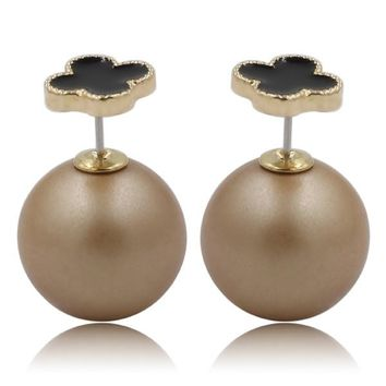 Mise en Dior Style Tribal v.s Van Cleef Earrings - Black & Matte Bronze