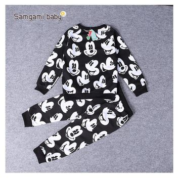 Childrens Clothing Suit Spring Autumn boy girl Sports Suit cotton baby long sleeve T-shirt + trousers 1-6 year old child clothes