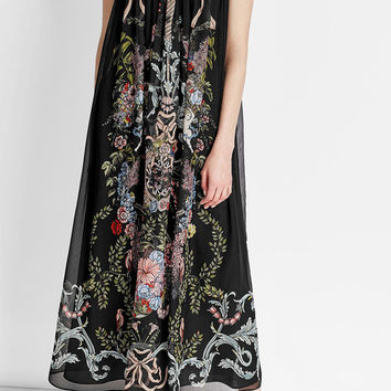 Printed Silk Maxi Dress with Coordinating Panties - Fendi | WOMEN | US STYLEBOP.COM