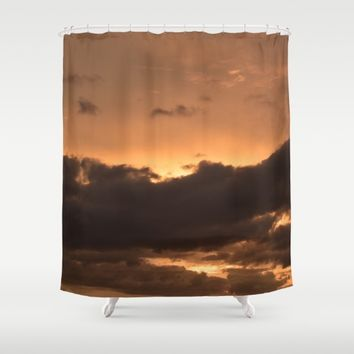 Costa Rican Sunset Shower Curtain by UMe Images
