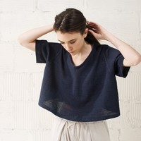 JOINERY - Flared Front V-Neck Knit by Sayaka Davis - WOMEN