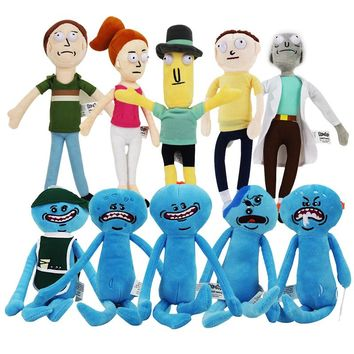 20-30cm Rick and Morty plush toy Happy Sad Foamy Mr Meeseeks Plush Dolls Mr. Poopybutthole fun kids toy