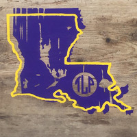 State decal, window sticker, Louisiana decal, State window stickers, laptop sticker, decals, car decal, car accessories, lsu, decals