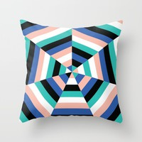 Heptagon Quilt 3 Throw Pillow by Fimbis